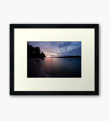 Sunset on water, Vanuatu, South Pacific Ocean Framed Print