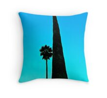 Palms in Living Color Throw Pillow