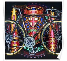 Hetchins Curly Bicycle Poster