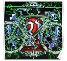 Rotrax touring bicycle Poster