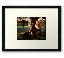 Lady of the lake  Framed Print
