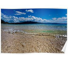 Seashore waves, Vanuatu, South Pacific Ocean Poster