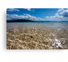 Seashore waves, Vanuatu, South Pacific Ocean Canvas Print