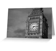Big Ben 3 B&W Greeting Card