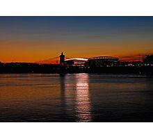 Sunset on Paul Brown Stadium Photographic Print