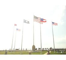 The Flags of Fort Sumter Photographic Print