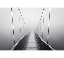 Grandfather Mountain Heavy Fog - Bridge to Nowhere Photographic Print