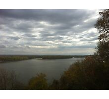 View of the Mississippi River from Hannibal, MO Photographic Print