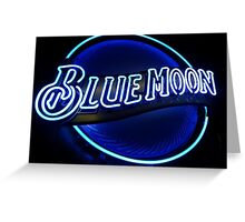 Blue Moon (2) Greeting Card