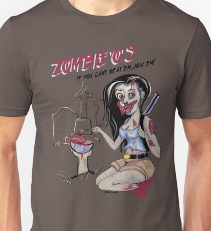 Zombie'o's part of a unconventional breakfast. Unisex T-Shirt