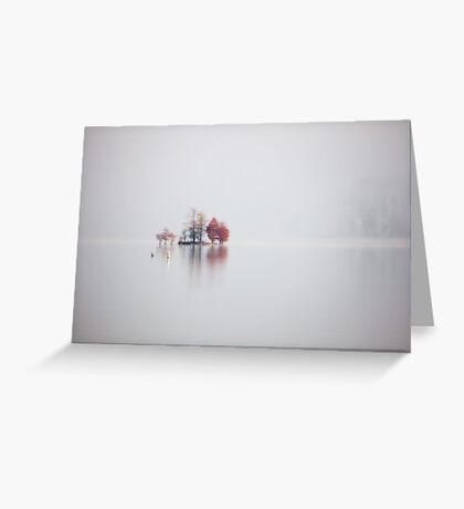 Stillness, Jordan Lake, NC Greeting Card