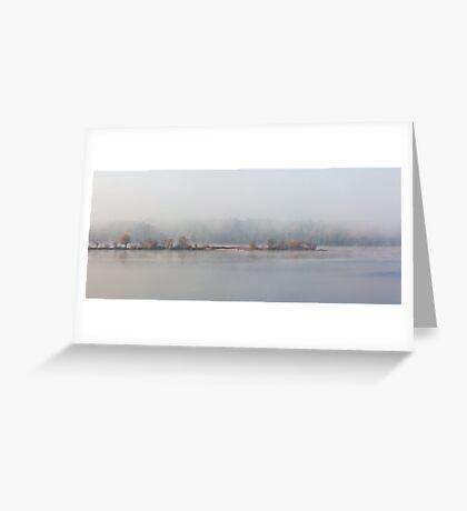 Fall Morning Fog, Jordan Lake, NC Greeting Card