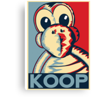 Vote Koopa (Poster / Print) Canvas Print
