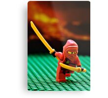 The Red Ninja Metal Print