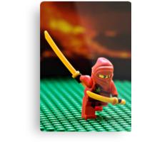 The Red Ninja Metal Print
