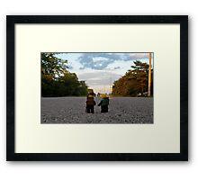 Hiker & Hitchhiker Framed Print