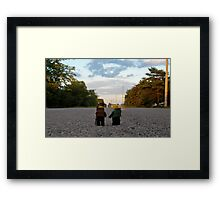 Hiker & Hitchhiker Framed Print