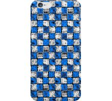 Blue and White checkers iPhone Case/Skin