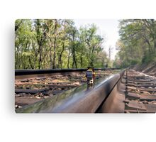 Down on the tracks Metal Print