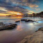 Sunrise on the Derelict Pier. by Warren  Patten