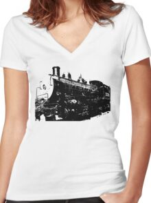 Train Women's Fitted V-Neck T-Shirt