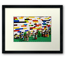 Outside The Wall Framed Print