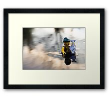 Fishing poles are for suckers Framed Print