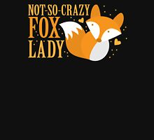 Not-So-Crazy Fox Lady  Womens Fitted T-Shirt