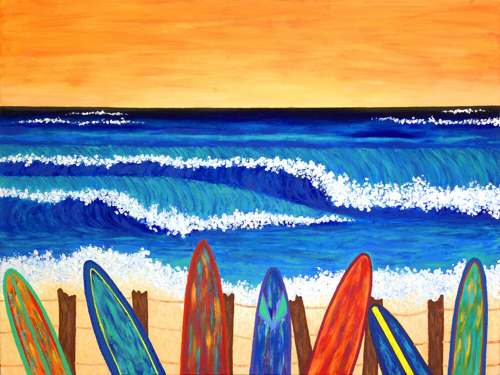 SURFS UP ~ bring the beach into your your home by Lisafrancesjudd