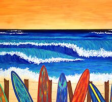 SURFS UP ~ bring the beach into your your home by Lisa Frances Judd~QuirkyHappyArt