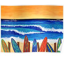 SURFS UP ~ bring the beach into your your home Poster