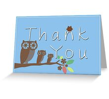 Owl Thank You Cards Greeting Card
