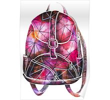 Watercolor Colorful Backpack Poster