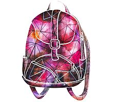Watercolor Colorful Backpack Photographic Print