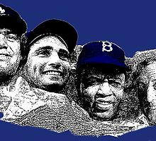 Dodgers Mt. Rushmore by MorphingAlpha