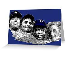 Dodgers Mt. Rushmore Greeting Card