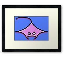 Manta in blue Fanta (the ocean I guess) Framed Print