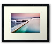 Swimmer of Merewether Pool Framed Print