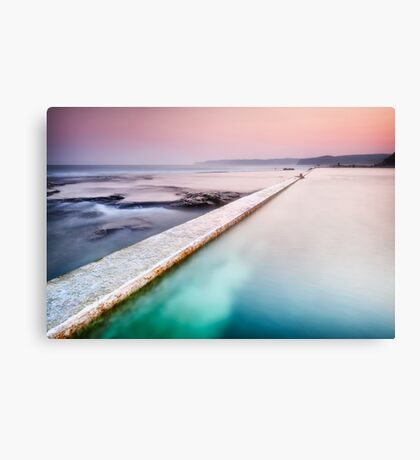 Swimmer of Merewether Pool Canvas Print