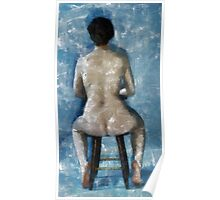 Nude In Chair Poster