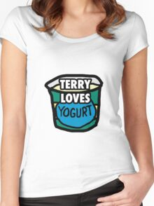 Terry loves yogurt Women's Fitted Scoop T-Shirt
