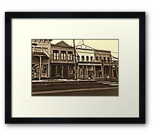 Walkin' Viginny City Framed Print