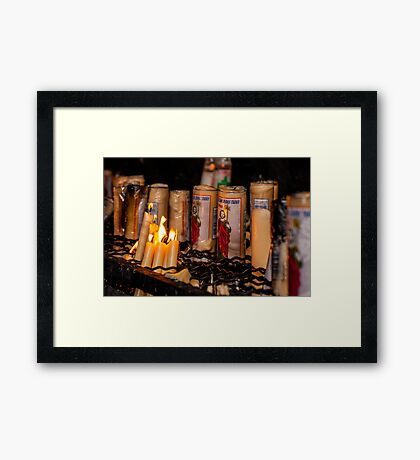 Candles for Saint Jude Framed Print