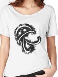 Antonio (white body on black) Women's Relaxed Fit T-Shirt