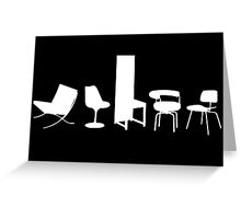 Architect-designed Chairs 20th Century Greeting Card
