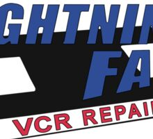Lightning Fast VCR Repair - Patch / Badge Version (Half in the Bag) Sticker