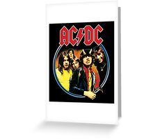 AC/DC Highway To Hell Rock Stuff Greeting Card