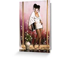 Lustrous Blossoms Greeting Card