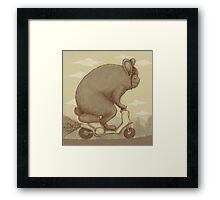 Bunny Ride Framed Print