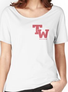 Twice varsity logo Pink Women's Relaxed Fit T-Shirt
